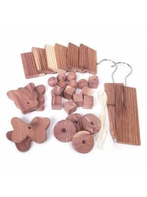 Woodluv Eco-Friendly 30 Natural Aromatic Cedar Wood Moth Repellent Balls