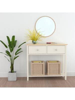 Woodluv Exquisite One Drawer MDF Bedside Night Stand - ButterMilk