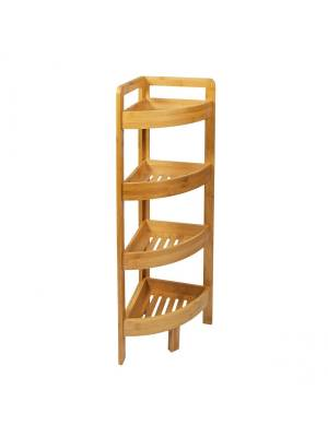 Woodluv Freestanding 4 Tier Corner Unit, Bathroom/Living Room