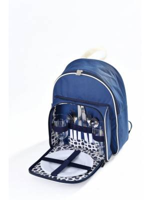 Woodluv Insulated Picnic Backpack For 2 Persons, Blue