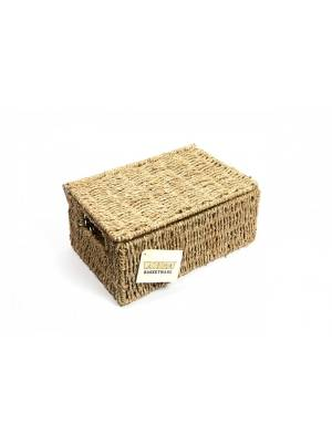 Woodluv Luxurious Medium Seagrass Storage Basket With Lid