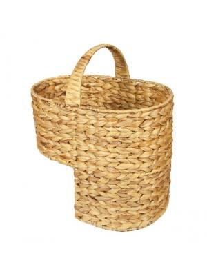 Woodluv Natural Handwoven Water Haychinth Step Stortage Basket