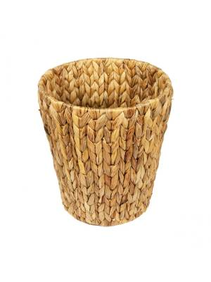Woodluv Natural Handwoven Water Haycinth Waste Paper Bin