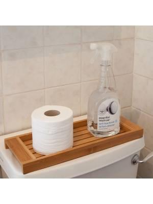 Woodluv Premium Quality Bamboo Shelf Organizer - Bathroom/BedRoom