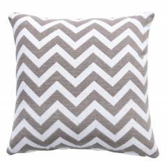 Chevron Sofa Cushion Cover - Smoke / Natural (45 cm X 45 cm )