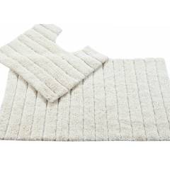 Luxurious Cotton Soft Absorbent 2 Piece Bathmat Set in Cream