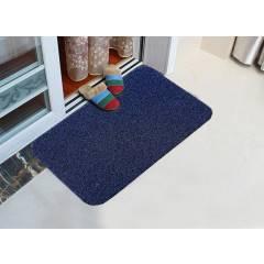 Long wearing PVC Vinyl backed Entrance Door Mat - Navy Blue & Black