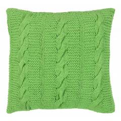 HandMade Chunky CableKnit Cotton Cushion Cover  - 40 x 40 cm, Green