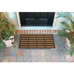 Heavy Duty Tuffscrape Natural Coir & Rubber Door Mat