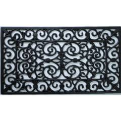 Heavy Duty Wrought Effect Rectangular Rubber Door mat - Large