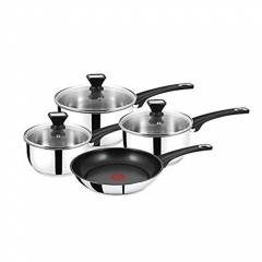 Jamie Oliver 4 Pcs Stainless Steel Pan Set,Induction Compatible