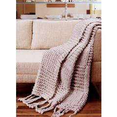 Luxuriously Soft Super Chunky Handknitted Cotton Throw-Grey (120 X 150cm)