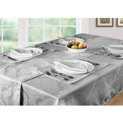Luxury Damask Pack Of 4 Table Napkins- Grey (43cm x 43cm )