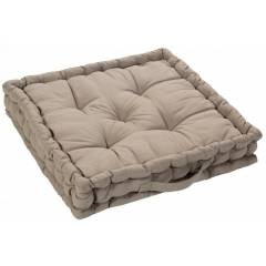 Medium Quilted Booster Cushions/ Chair Pad 40 x 40 x 10cm - Latte