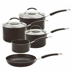 Meyer Non-Stick Induction 5 Piece Everyday Straining Cookware Set
