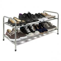 Premium Quality 2 Tier Metal Shoe Organising Unit For Hallway