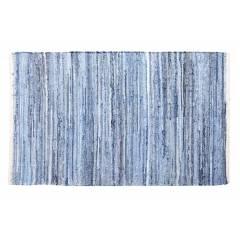 Recycled Cotton Handmade Denim Chindi Floor Rug, 90 x 150cm