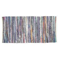 Recycled Cotton  Handmade Multi Coloured  Chindi Floor Rug -60 x 90Cm