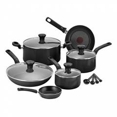 Tefal 7pc Excite  Non-Stick Saucepan Cookware Set - Balck