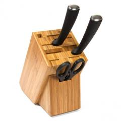 Woodluv 11 Slots  Bamboo Knife Block (Without Knives)