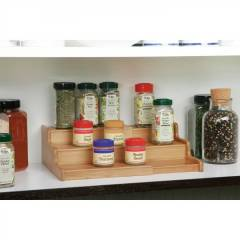 Woodluv Expendable Bamboo 3 Tier Spice Rack Organizer