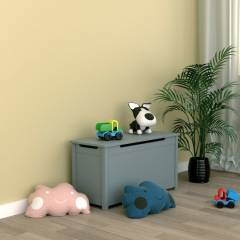 Woodluv  Exquisite & Sturdy MDF Ottoman Storage Toy Chest - Grey
