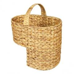Woodluv Natural Handwoven Water Haychinth Step Stortage Basket