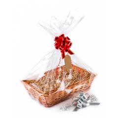 Woodluv Wicker Hamper Basket Includes Create Your own Gift Hamper Kit
