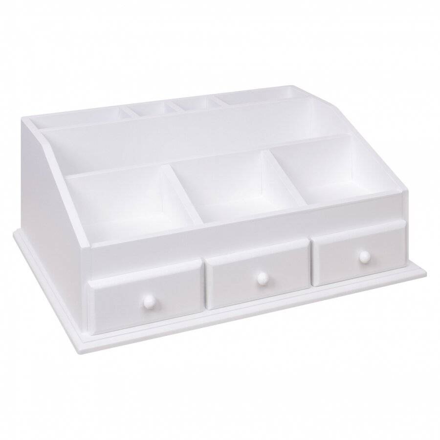 3 Drawer MDF cosmetic Organiser With 8 Compartments
