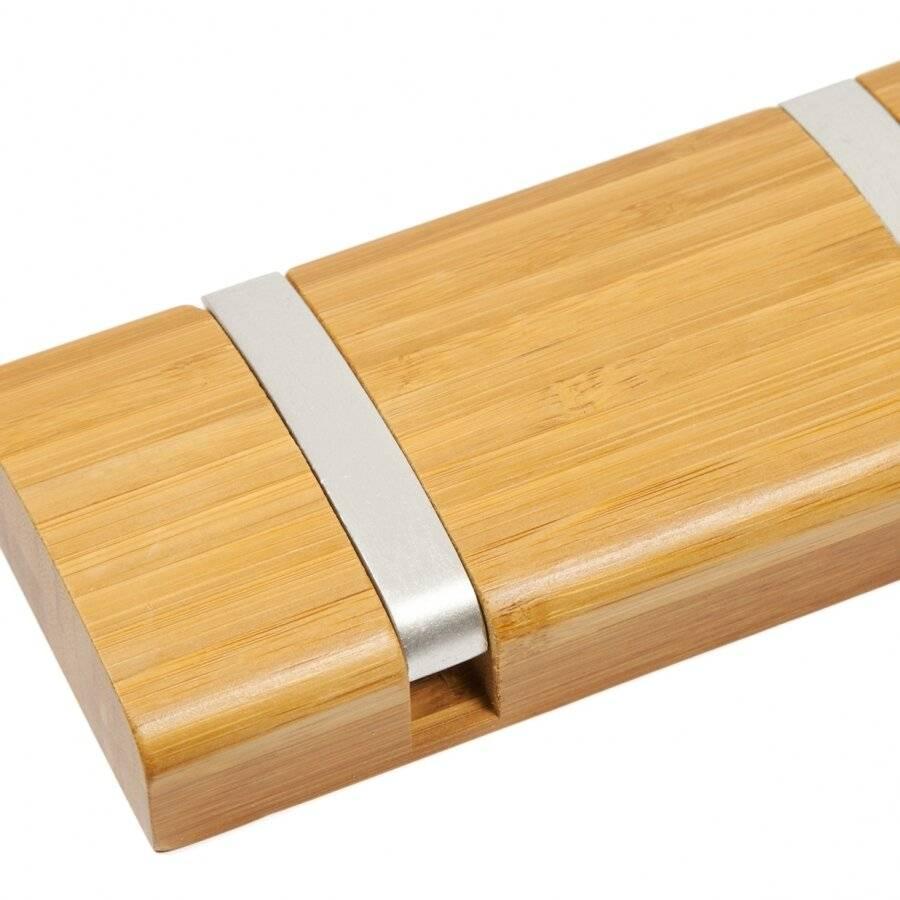 6 Hooks  Wall-Mounted Wooden Flip Hook hanger- Natural Honey