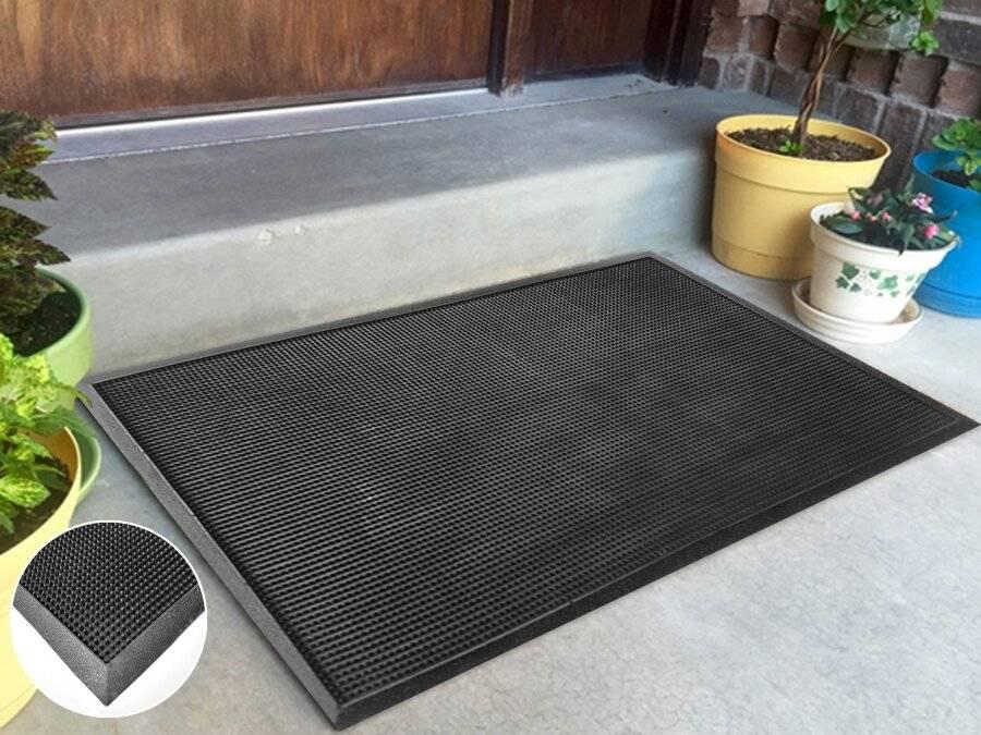 Anti Curl Rubber Stud Indoor and Outdoors Non-Slip Doormat
