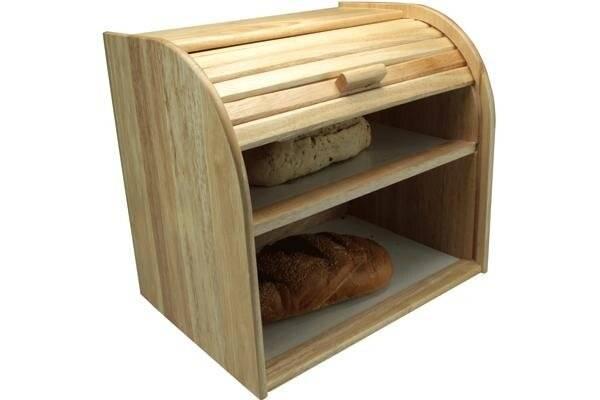 Apollo Classic Style Double Decker Rubber Wood Bread Bin