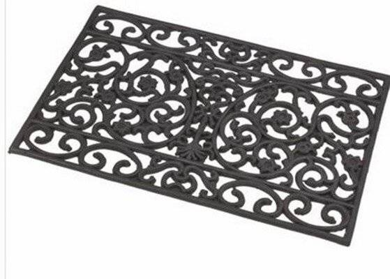 Cast Look Rectangular Weatherproof Rubber Doormat - Indoor & Outdoor
