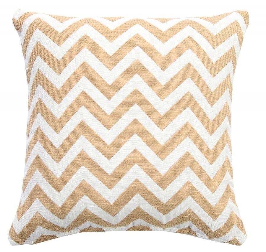 Chevron Sofa Cushion Cover - Beige/Natural (45 cm X 45 cm)
