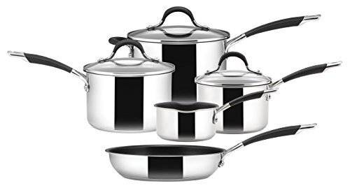 Circulon Momentum 5 PCs Stainless Steel Saucepan & Frypan Set