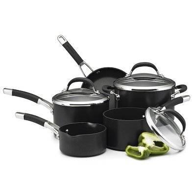 Circulon Premier Heavy Gauge Hard-Anodized Cookware 5 Piece Pan Set