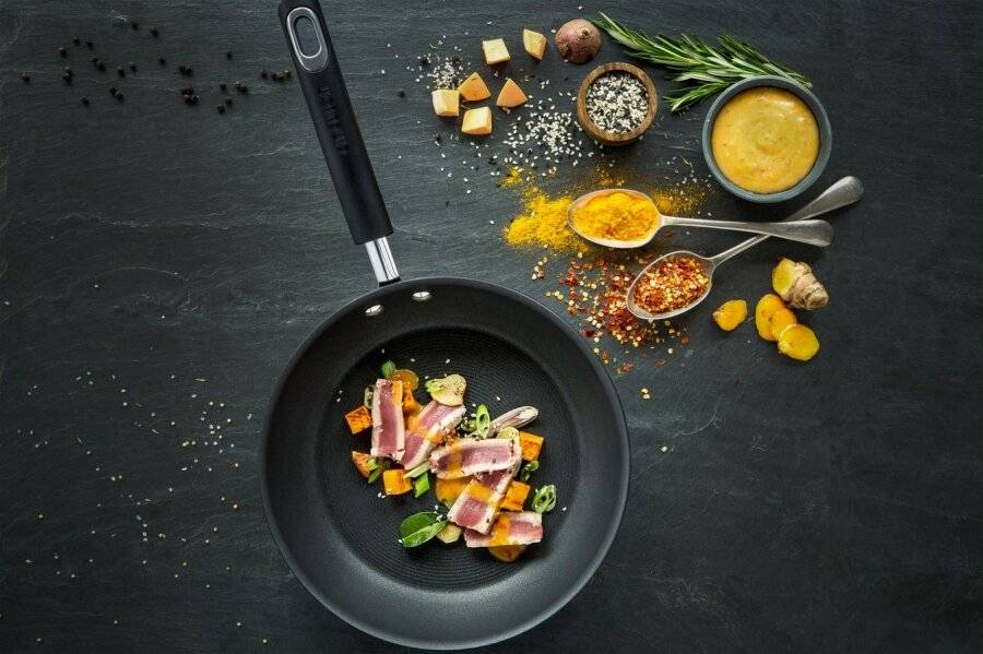 Circulon Total Hard Anodized Twin Pack Frying Pans - 22/25 cm