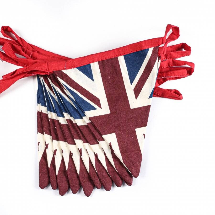 Cotton Double Sided Vintage Style Union Jack Festival Bunting - 5 m