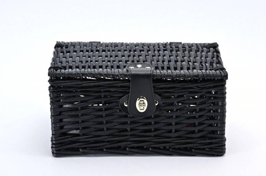 Create Your Own Wicker Gift Hamper Basket Kit Use, Black - Medium
