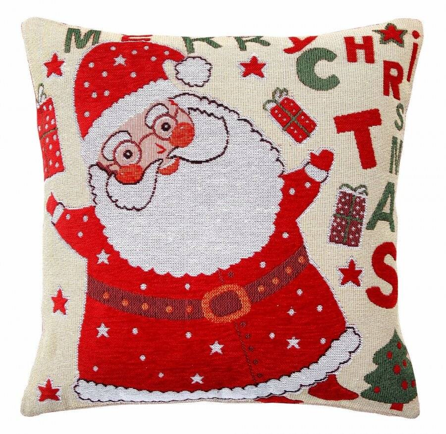 Dancing Santa Xmas Cushion Cover Sofa Bed Pillow Case With Insert