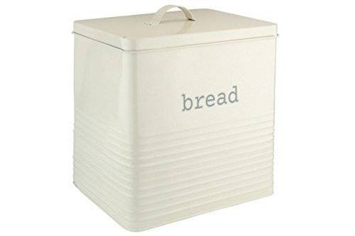EHC Elegant Square Shaped Bread Storage Bin - Cream