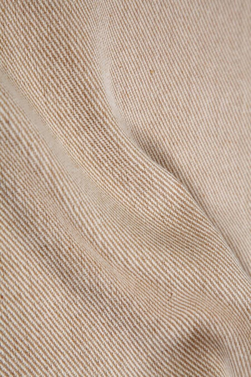 Pinstripe Sofa Armchair Single Bed Throw, 125 X 150 cm - Beige