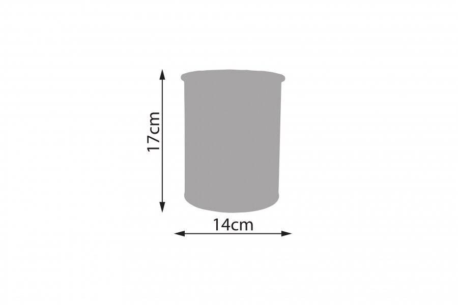 Round Black Enamel Utensil Storage Pot Holder, Diameter 14 cm