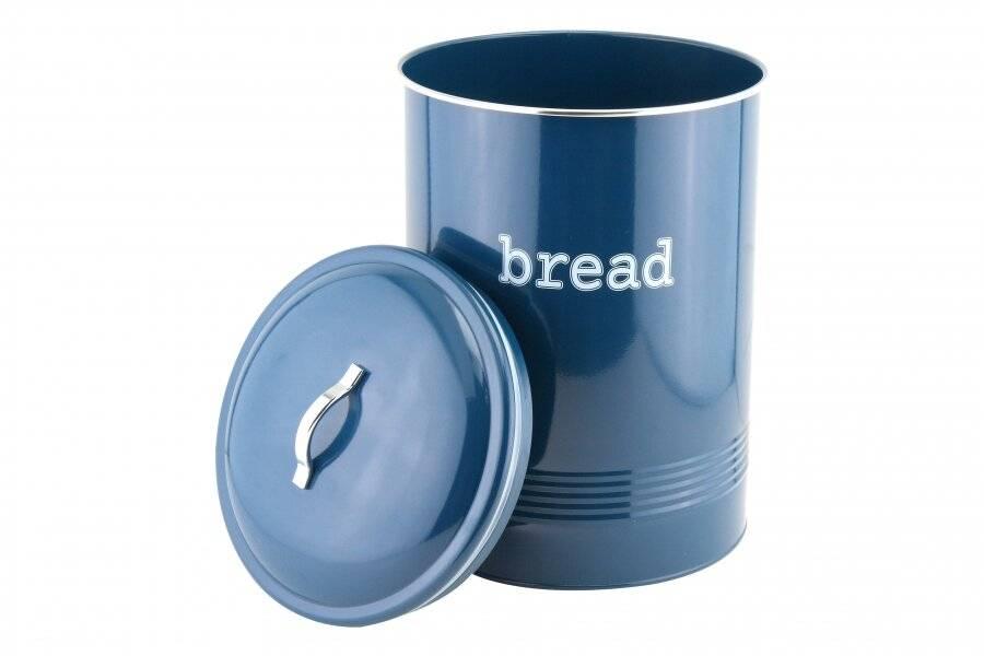 EHC Round Enamel Airtight Bread Storage Container - Azzurri Blue
