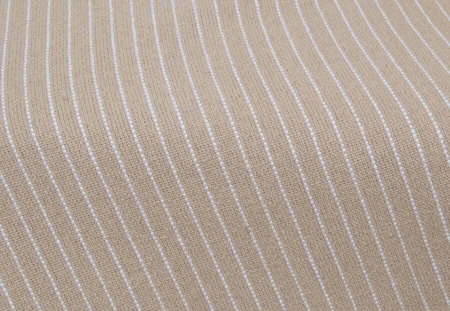 EHC Soft Divine Stripe Cotton Super King Throw, Beige 250 cm X 380 cm