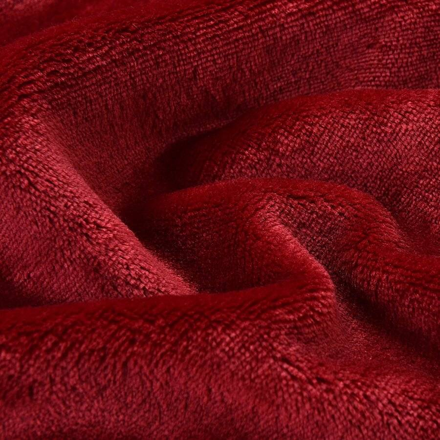 EHC Super Soft Fluffy Flannel Fleece Throws, Wine 125 cm x 150 cm
