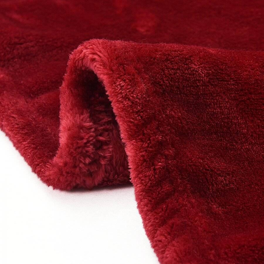 EHC Super Soft Fluffy Flannel Fleece Throws, Wine 200 cm x 240 cm