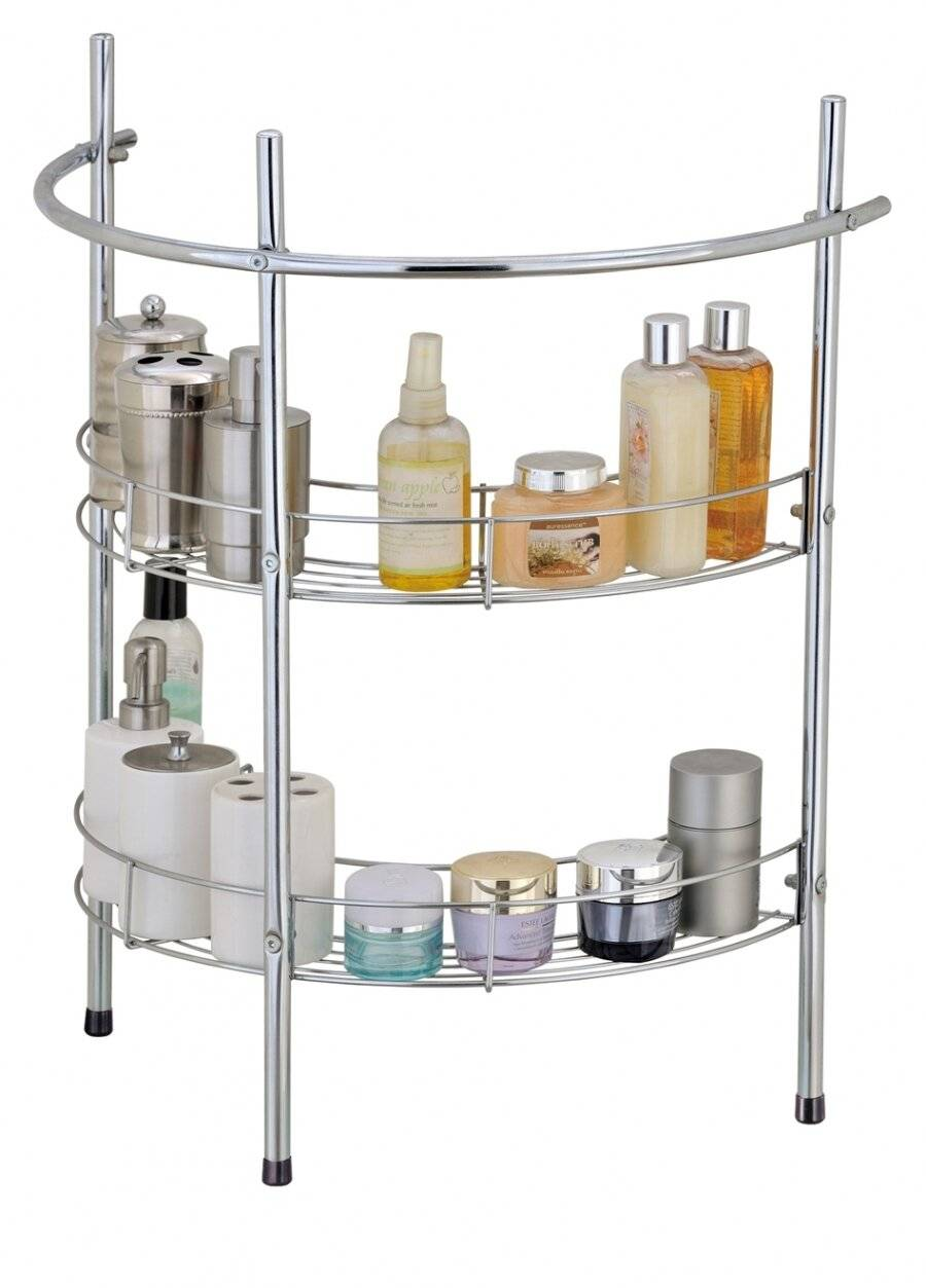 EHC Under Basin Chrome Bathroom 2 Tier Sink Storage Rack & Towel Rail
