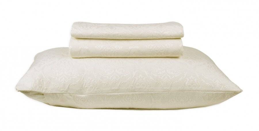 European Style Woven Matelasse Bedspread, 2 Pillow Shams - Grace Cream