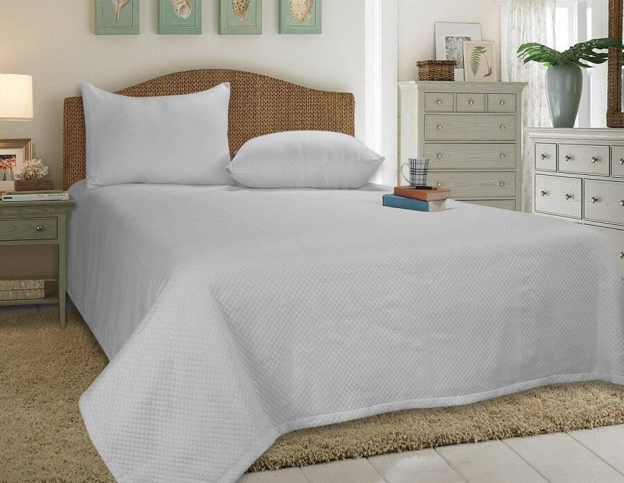 European Style Woven Matelasse Bedspread, 2 Pillow Shams